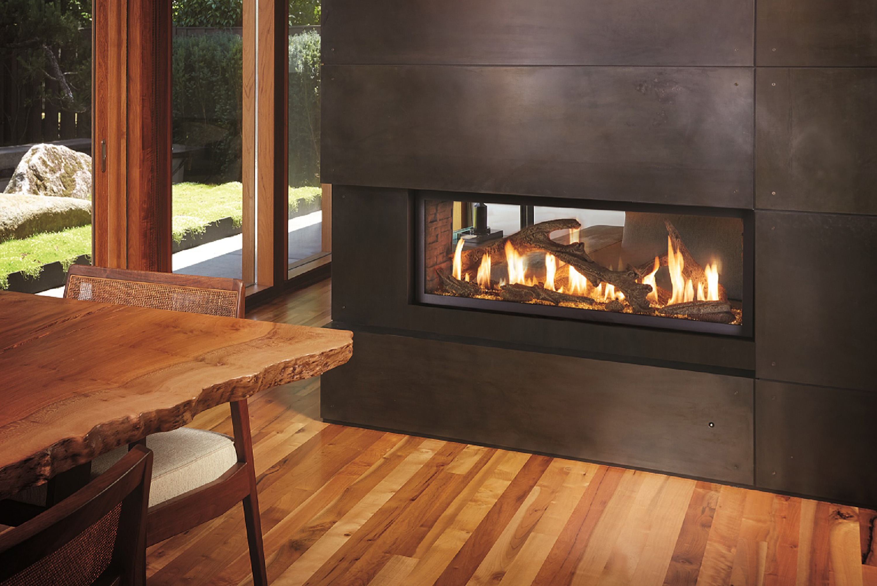As The Newest Addition To Fireplace Xtrordinairu0027s High Output Linear Gas  Fireplace Series, The 4415 See Thru™ Also Showcases A Sleek, Linear Profile  With ...
