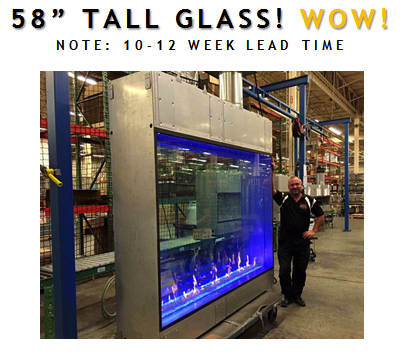 58 Tall Glass Now Featured On Davinci Custom Fireplaces